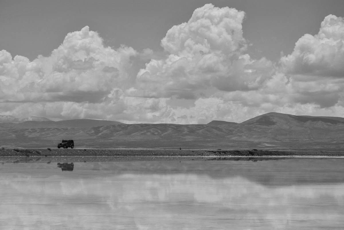 salt lake and desert Argentina
